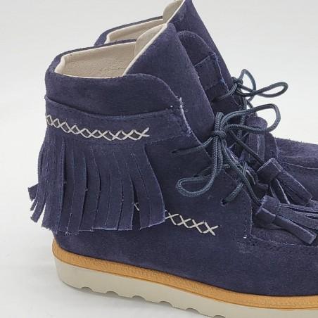 Zapato oxford charol burdeos o azul marino