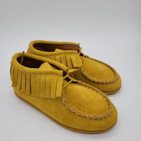 Zapato en piel negra Camper