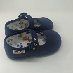 Zapato Oxford ante azul